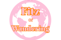 Fitz of Wandering Logo- pink and orange globe